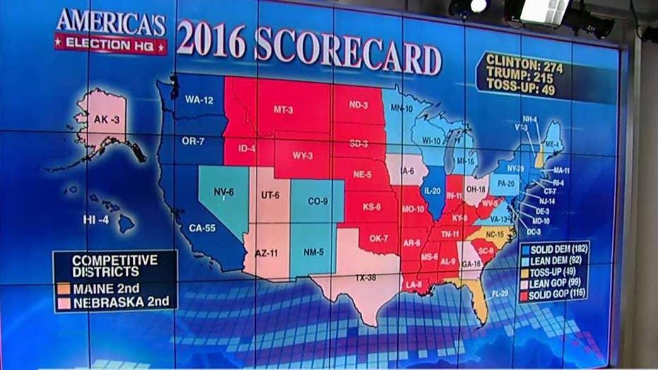 Fox News Electoral Scorecard Map Shifts Again In Trump S Favor As