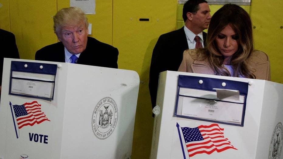 Donald Trump casts presidential ballot