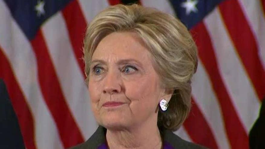 Democratic presidential nominee speaks following Trump victory