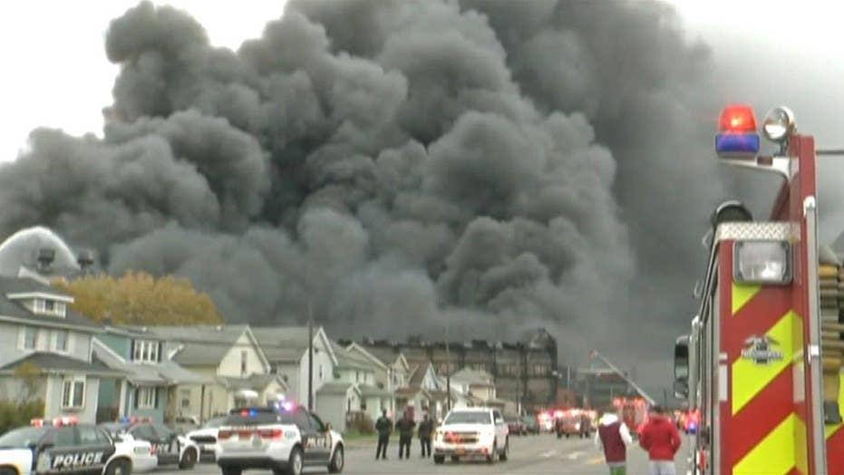 Hot light bulb sparks massive steel mill fire