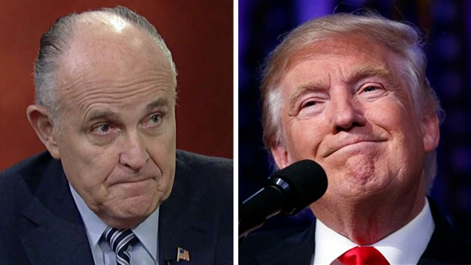Rudy Giuliani discusses Trump's possible Cabinet choices