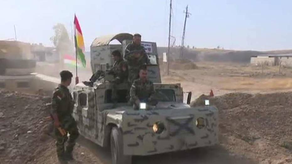 Kurdish forces push into ISIS-held territory in Iraq