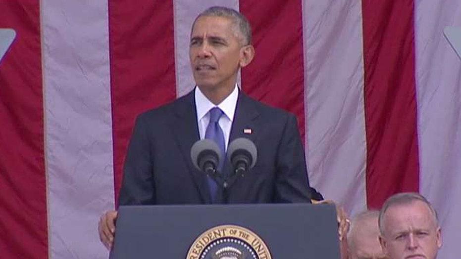President Obama commemorates Veterans Day