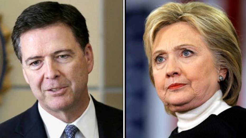 Hillary Clinton blames FBI director for loss