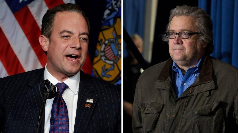 Trump names Priebus chief of staff, Bannon chief strategist