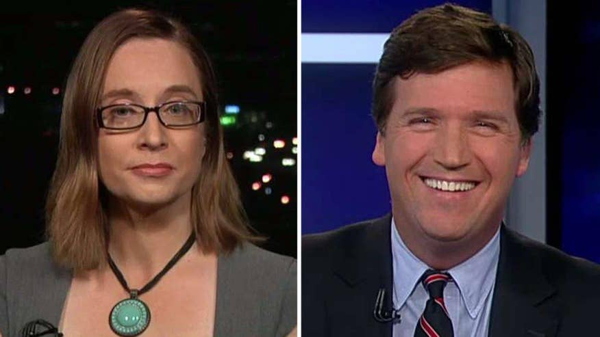 Tucker Carlson tries to get professor to explain her approach to students hysterical over Hillary Clinton's loss to Trump in the election, define 'safe spaces' and the lack of intellectual diversity on college campuses