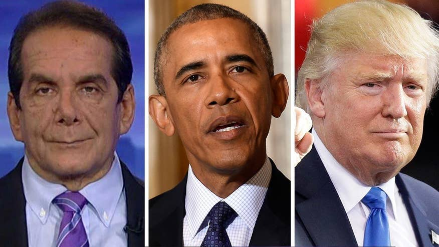Charles Krauthammer said Monday that President Obama has demonstrated an honest desire for an easy transition of power at the White House, unlike other members of his party