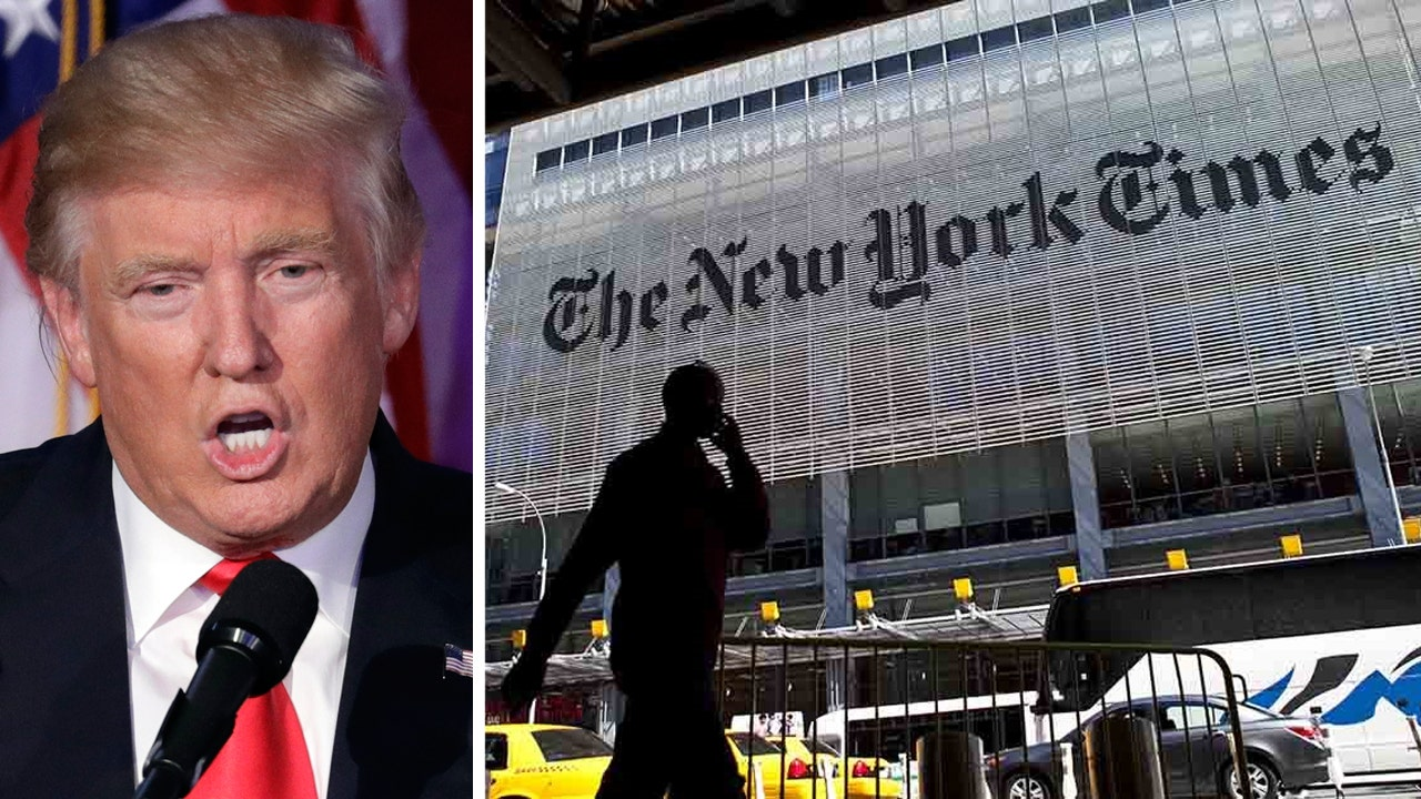 Trump, New York Times war reignites over transition ...