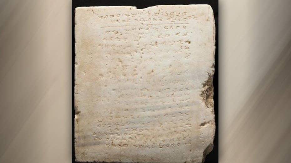 Ancient Ten Commandments stone up for auction