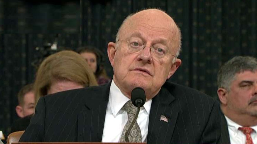 Clapper announced resignation while testifying before House Intelligence Committee