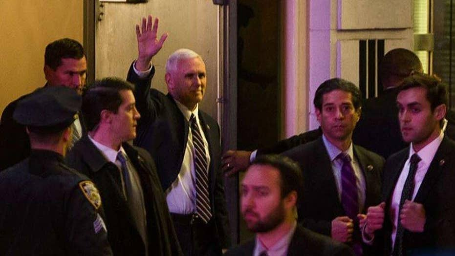 'Hamilton' cast lectures Mike Pence, Trump asks for apology