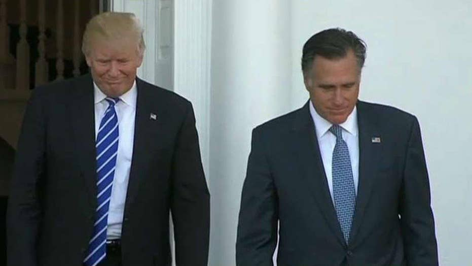 Trump meets with Mitt Romney as he shapes his Cabinet