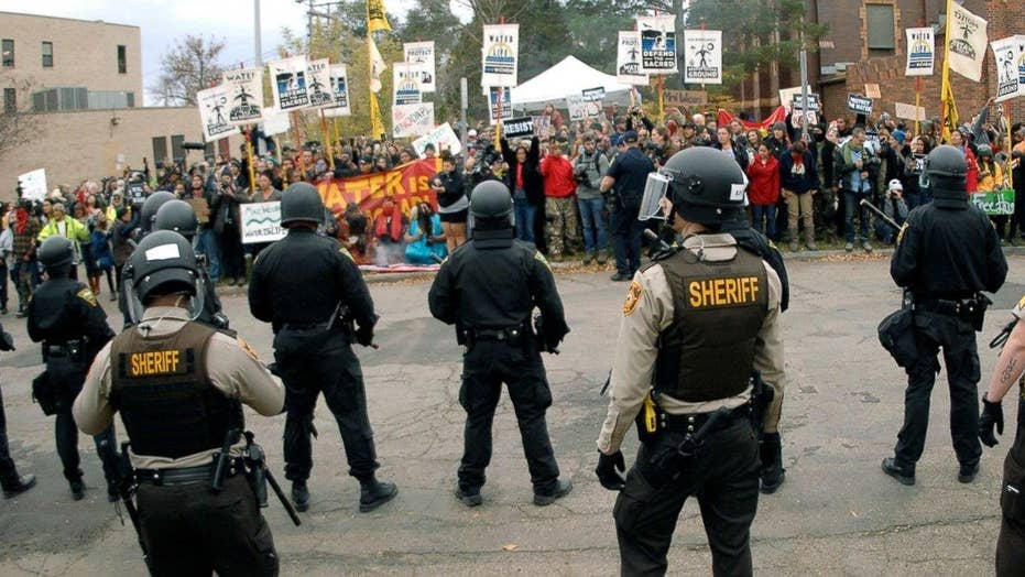 Pipeline protesters clash with police