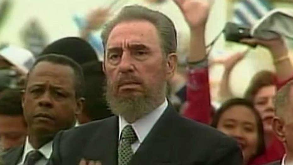 Cuban-Americans celebrate the death of Castro