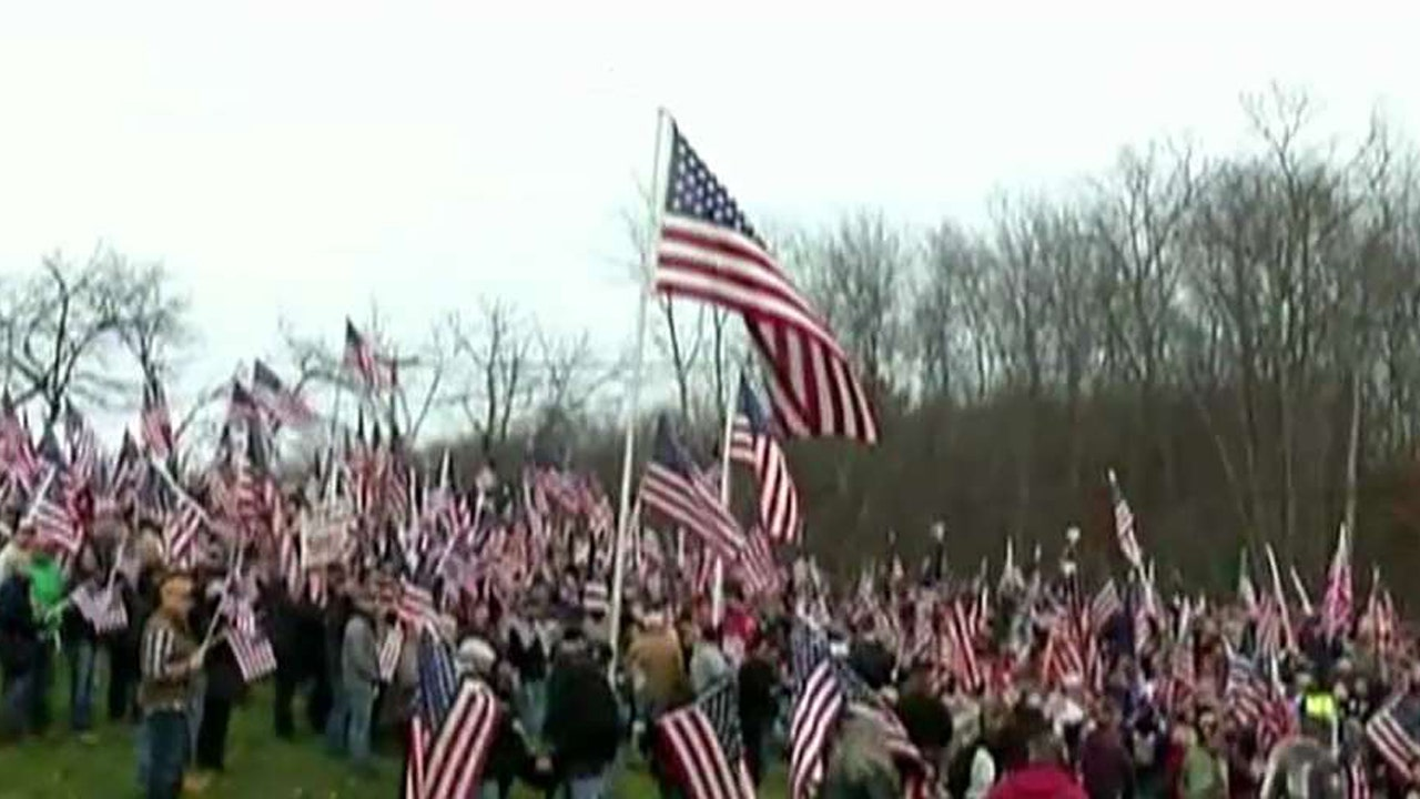 Veterans Protest At M Achusetts College That Removed Us Flags Fox News