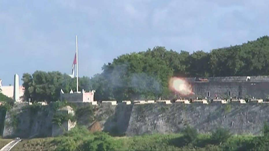 21-gun salutes following death of Fidel Castro