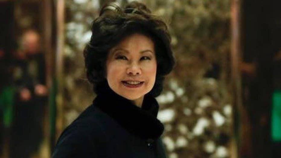 Trump to tap Elaine Chao for transportation secretary