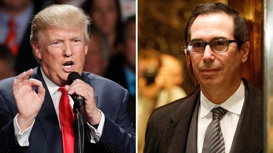 Trump to nominate Steven Mnuchin for Treasury Secretary