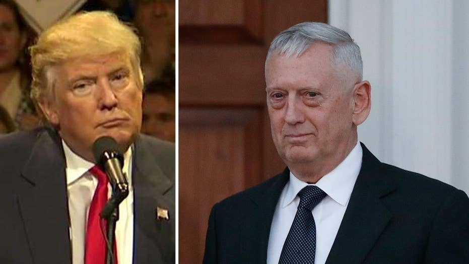 Trump: We're going to appoint Gen. Mattis as Sec. of Defense