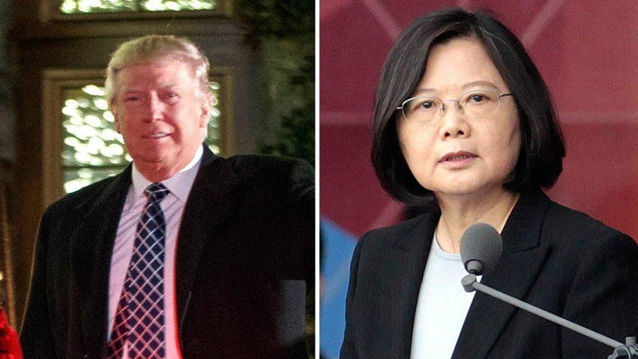 Trump's call with the president of Taiwan sparks outrage