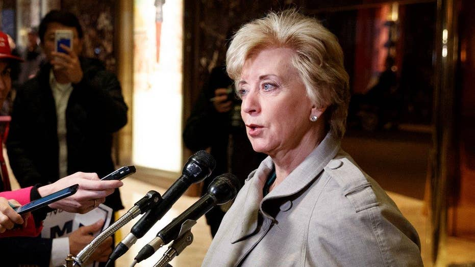 Linda McMahon tapped to head Small Business Administration
