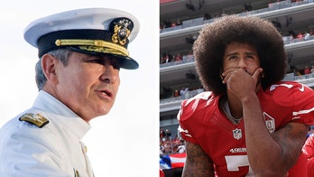 Admiral Harry Harris takes swipe at the 49ers quarterback to a standing ovation