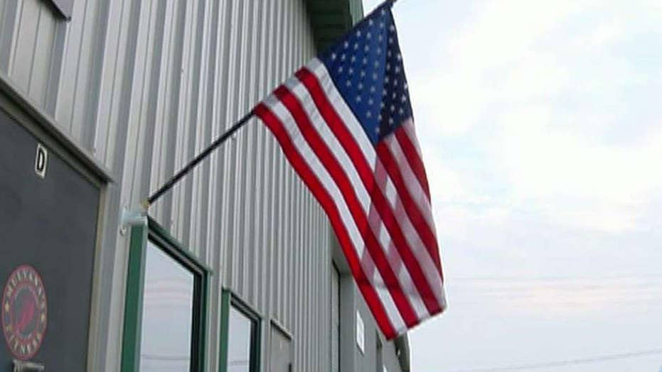 American flags burned outside California gyms