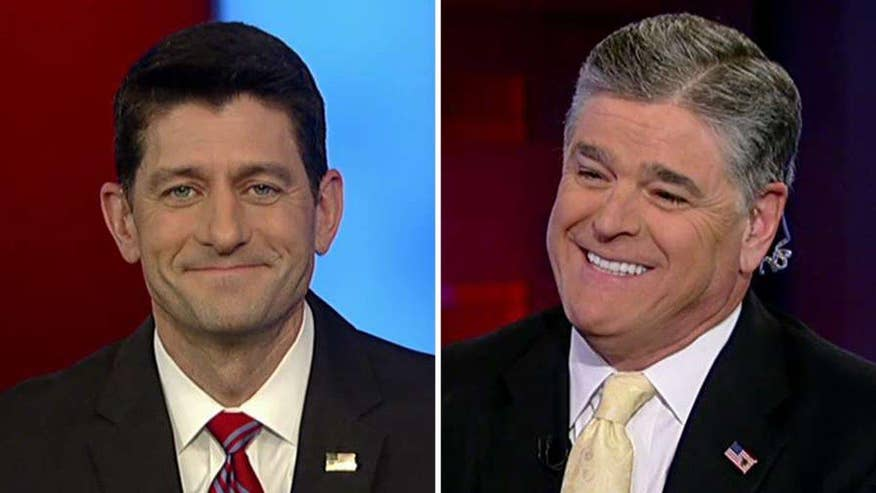 The House speaker says on 'Hannity' that he shares the agenda of the president-elect