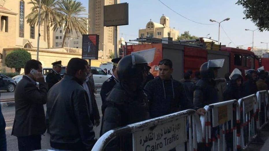 Blast at Egypt's main Coptic Christian cathedral kills 25