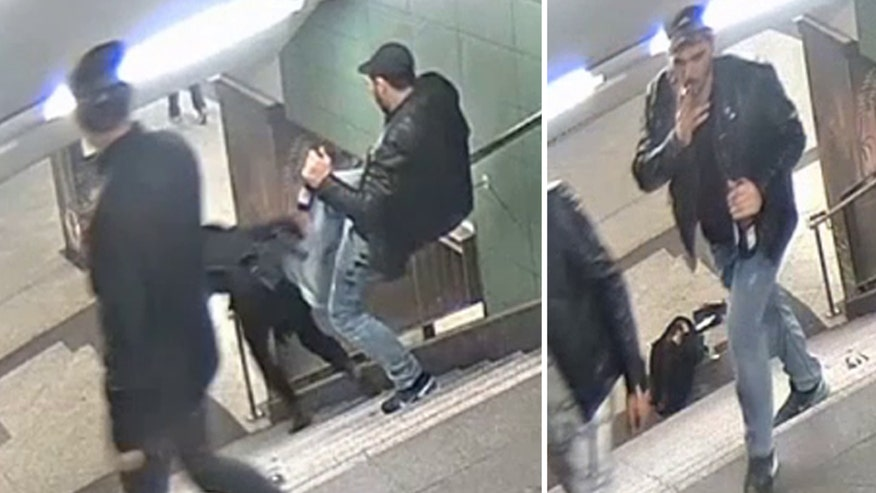 Raw video: Rewards offered for information on attacker in shocking assault at Berlin U-Bahn station in Germany