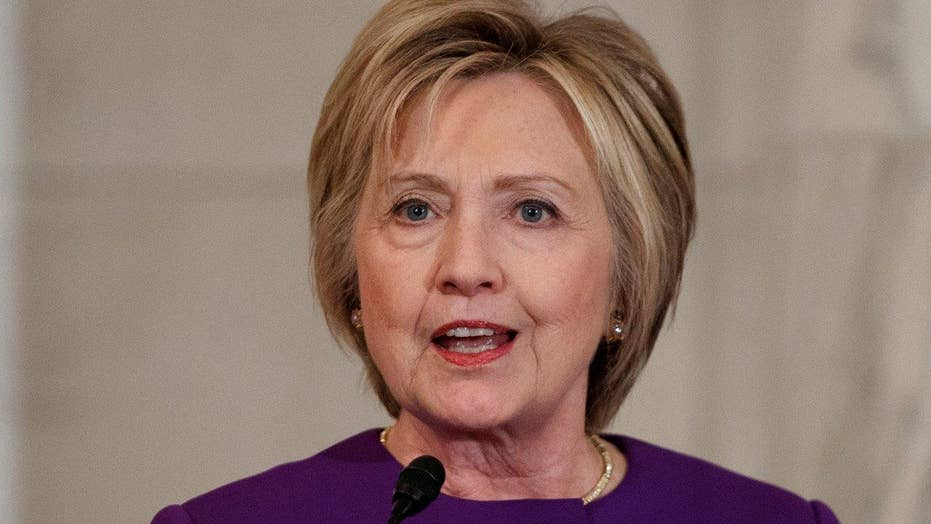Hillary hits fake news