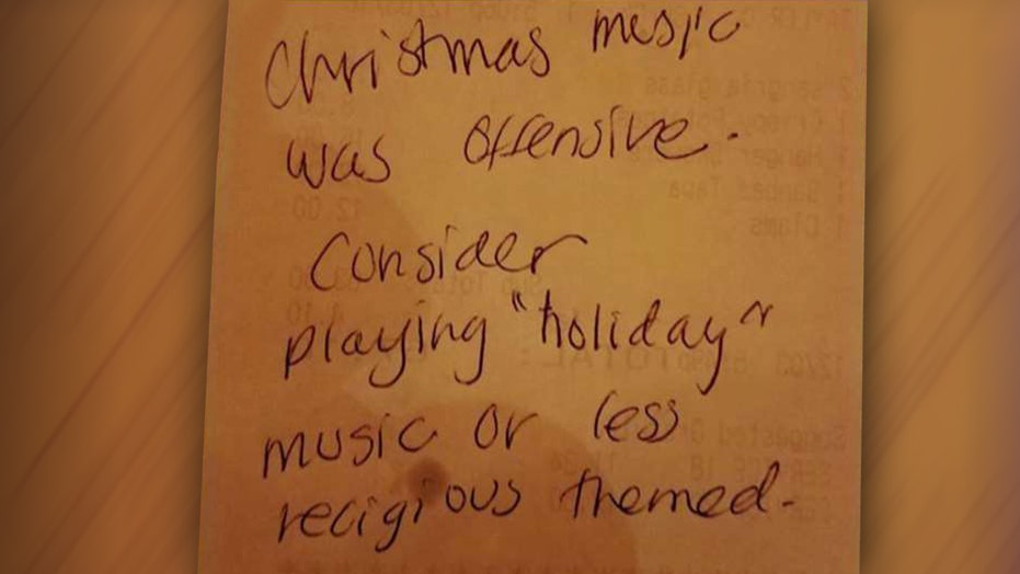 Diner asks restaurant to stop 'offensive' Christmas music