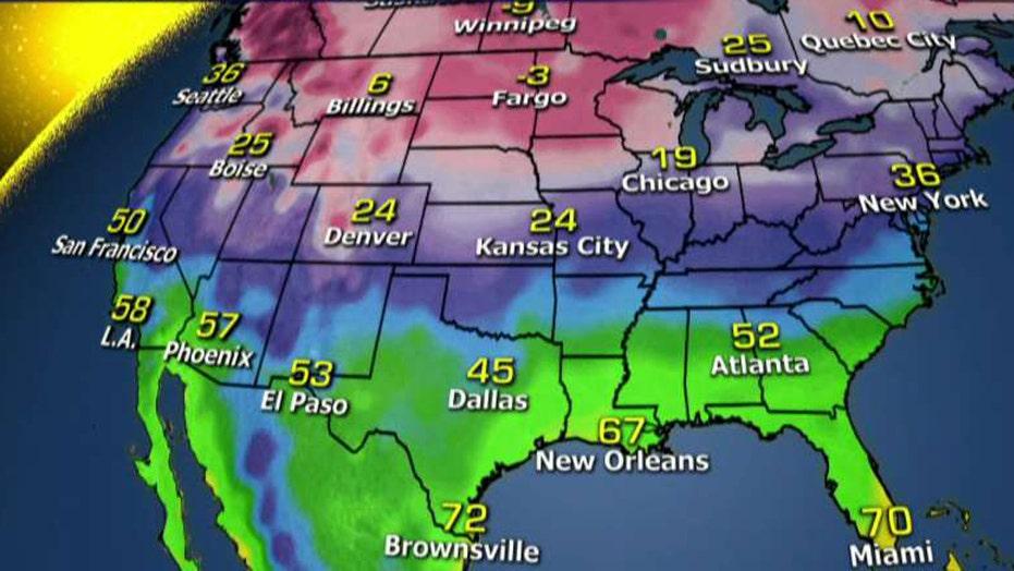 National forecast for Tuesday, December 13