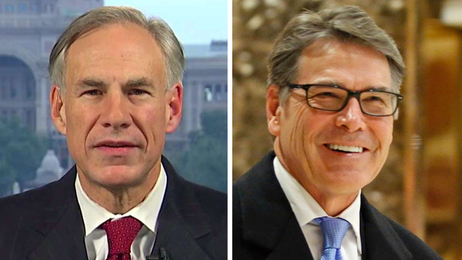 Gov. Abbott on Trump tapping Rick Perry for energy secretary