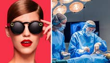 Four4Four Tech: Doctor livestreams hernia surgery using Snapchat Spectacles; high-tech mouth guard tackles concussion, iPhone 8 curved display rumor, tech helps protect Amazon tribes