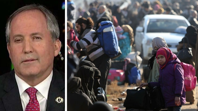 Texas attorney general blasts the US refugee policy