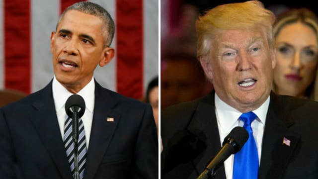 War of words between current, future US president