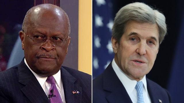 Herman Cain slams Kerry's speech as 'pure rhetoric'