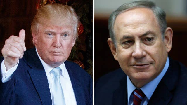 Trump signals stronger ties with Israel on Twitter