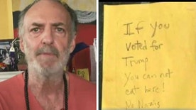Owner doesn't regret sign that banned Trump voters from his cafe