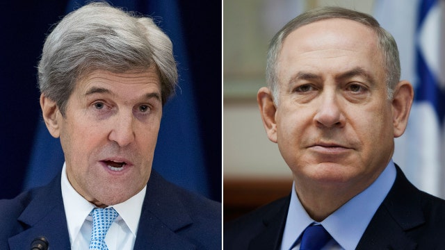 Kerry, Netanyahu at odds over UN resolution