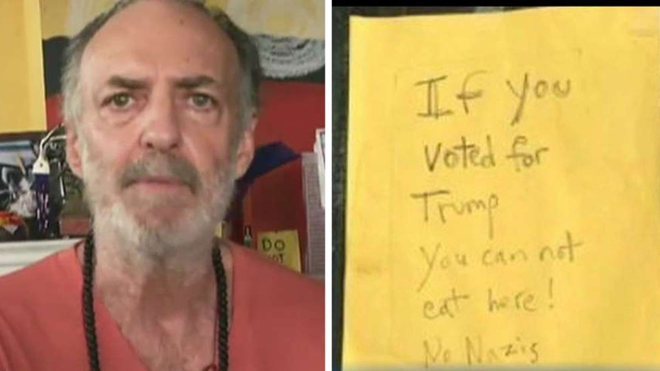 Restaurant owner defends anti-Trump sign