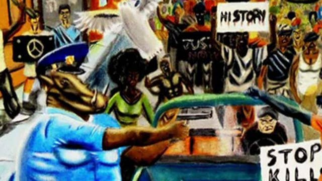 Painting in U.S. Capitol depicts cops as pigs