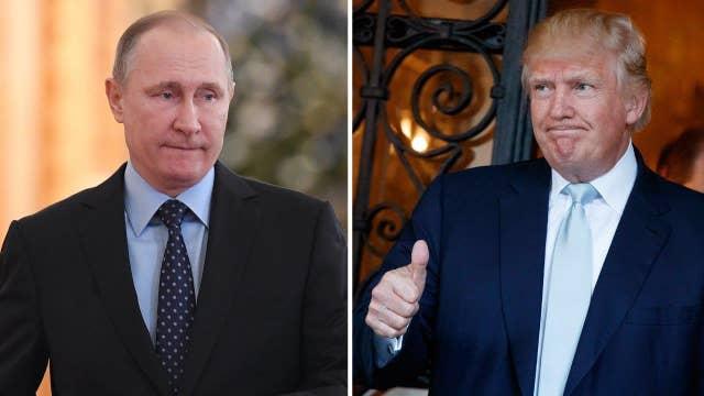 Trump takes to Twitter to praise Putin