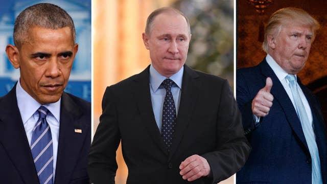 Obama punishes Putin, while Trump praises him