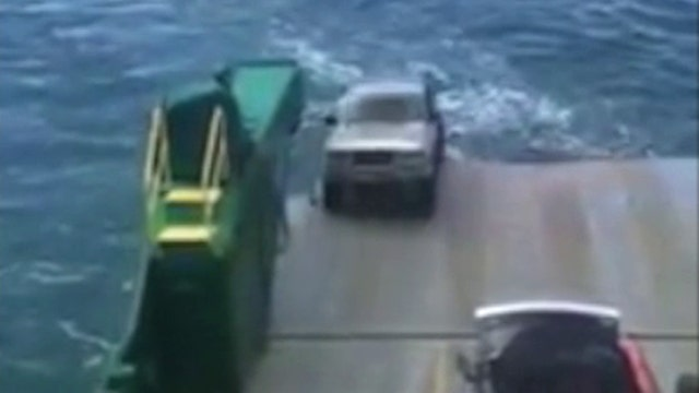 Ferry fail: Unsecured car lost at sea after rolling off boat