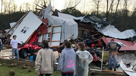 Powerful storm system leaves trail of destruction
