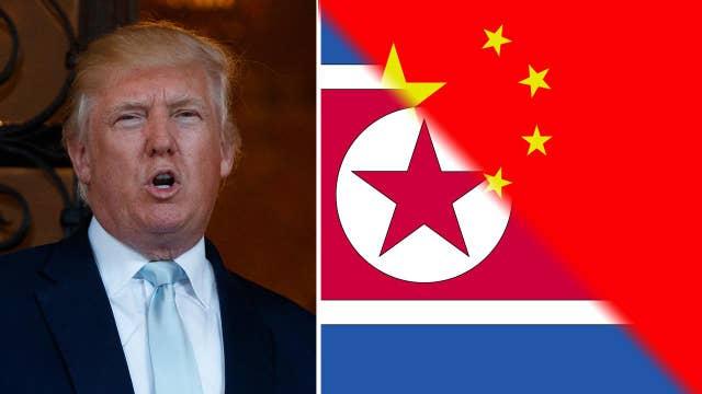 Trump rips China, while North Korea flaunts missile tests