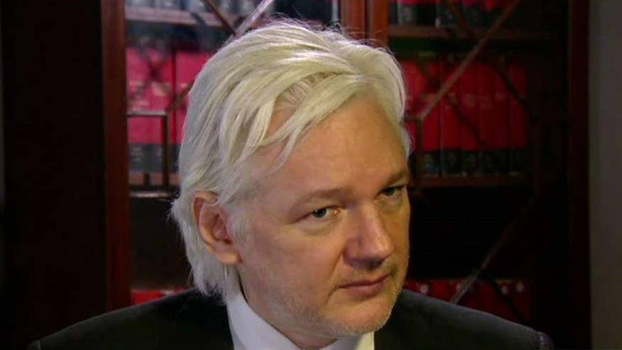 On 'Hannity,' the WikiLeaks founder says his agenda is to expose the truth