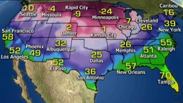 National forecast for Wednesday, January 4